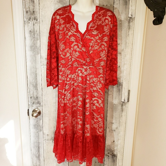 kimlilly Dresses & Skirts - Kimlily 4x nwot red lace special occasion dress